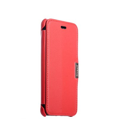 Чехол-книжка кожаный i-Carer для iPhone 8/ 7 (4.7) Curved Edge (округлые края) Luxury Series (RIP704red) Красный - фото 5990