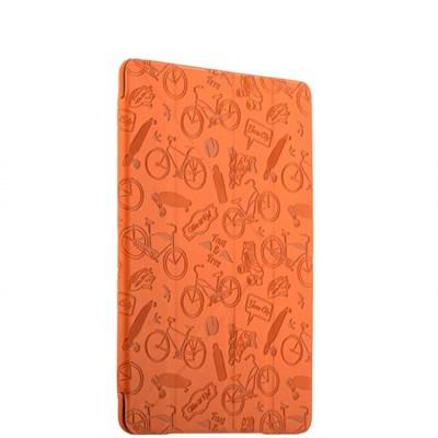 Чехол-подставка Deppa Wallet Onzo для Apple iPad Air 2 с тиснением (PU эко-кожа) 1.0мм D-88021 Оранжевый - фото 6943