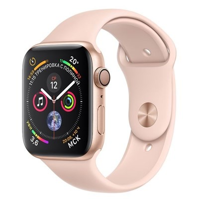 Часы Apple Watch Series 4 GPS 44mm Aluminum Case with Sport Band MU6F2 Розовый/Розовый песок - фото 14612