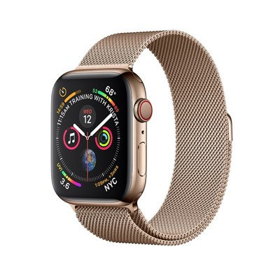 Часы Apple Watch Series 4 GPS + Cellular 40mm Stainless Steel Case with Milanese Loop Gold Золотые - фото 14629