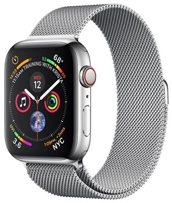 Часы Apple Watch Series 4 GPS + Cellular 40mm Stainless Steel Case with Milanese Loop MTUM2 Silver Серебристый - фото 14631