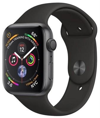 Часы Apple Watch Series 4 GPS 44mm Aluminum Case with Sport Band MU6D2 Серый космос/Черный - фото 14801