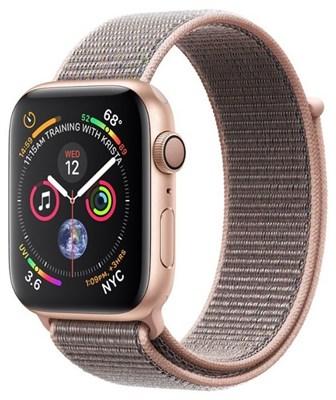 Часы Apple Watch Series 4 GPS 40mm Aluminum Case with Sport Loop MU692 Золотистый/Розовый песок - фото 14819