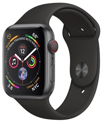 Часы Apple Watch Series 4 GPS + Cellular 40mm Stainless Steel Case with Sport Band MTUN2 Серый Космос/Черный - фото 15181