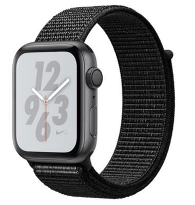 Часы Apple Watch Series 4 GPS 44mm Aluminum Case with Nike Sport Loop MU6K2 Серый космос/черный - фото 15304