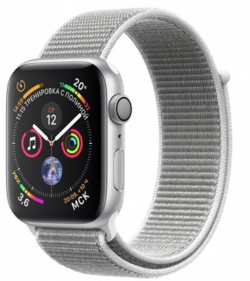Часы Apple Watch Series 4 GPS 40mm Aluminum Case with Sport Loop Seashell MU652 Белая ракушка - фото 15344
