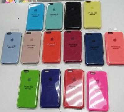 Силиконовый чехол Silicone Case для Apple iPhone 6/6S в ассортименте - фото 15347