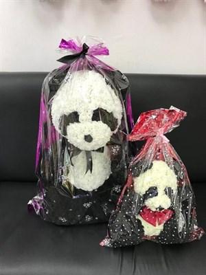Панда из роз 70 см - фото 15384