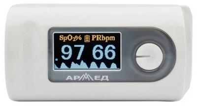 Пульсоксиметр (оксиметр) Armed YX301 с регистрационным удостоверением - фото 16015