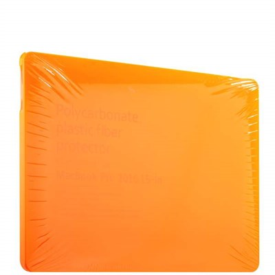 "Защитный чехол-накладка BTA-Workshop для Apple MacBook Pro 15"" Touch Bar (2016г.) матовая оранжевая - фото 9791"