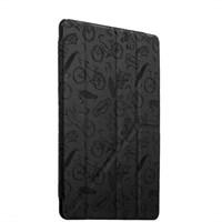 Чехол-подставка Deppa Wallet Onzo для Apple iPad Air 2 с тиснением (PU эко-кожа) 1.0мм D-88020 Темно-серый