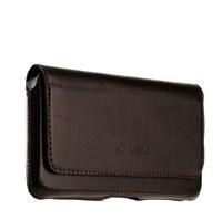 """Чехол-кобура (внут. маг.) кожаный Valenta (C-918 5XL) Arezzo (155x85x9mm 5.5"""") с двойным креплением на ремень коричневый"""