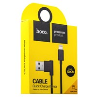 USB дата-кабель Hoco UPL11 L Shape Lightning (1.2 м) Черный