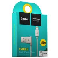 USB дата-кабель Hoco UPM10 L Shape MicroUSB Cable (1.2 м) Белый