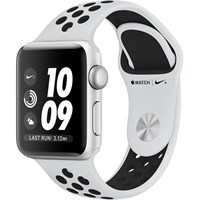 Часы Apple Watch Series 3 38mm Aluminum Case with Nike Sport Band Pure Platinum/Black