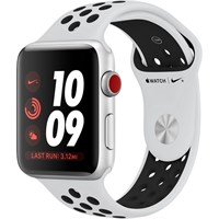 Часы Apple Watch Series 3 Cellular 42mm Aluminum Case with Nike Sport Band Pure Platinum/Black