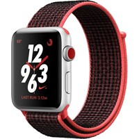 Часы Apple Watch Series 3 Cellular 42mm Aluminum Case with Nike Sport Loop Bright Crimson/Black