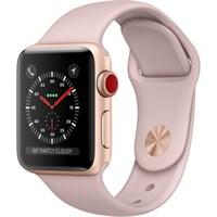 Часы Apple Watch Series 3 Cellular 38mm Aluminum Case with Sport Band Pink/Розовый