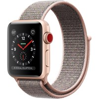 Часы Apple Watch Series 3 Cellular 38mm Aluminum Case with Sport Loop Pink Sand MQJQ2