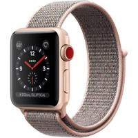 Часы Apple Watch Series 3 Cellular 38mm Aluminum Case with Sport Loop Pink Sand MQJQ2