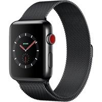 Часы Apple Watch Series 3 Cellular 42mm Stainless Steel Case with Milanese Loop Black/Черный