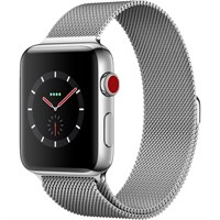 Часы Apple Watch Series 3 Cellular 42mm Stainless Steel Case with Milanese Loop Silver/Серебристый