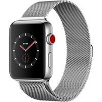 Часы Apple Watch Series 3 Cellular 42mm Stainless Steel Case with Milanese Loop Silver/Серебристый