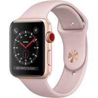 Часы Apple Watch Series 3 Cellular 42mm Aluminum Case with Sport Band Pink Золотистый/Розовый песок MQK32