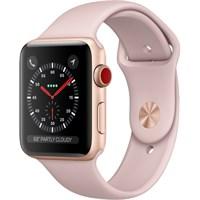 Часы Apple Watch Series 3 Cellular 42mm Aluminum Case with Sport Band Pink Золотистый/Розовый песок MQK32