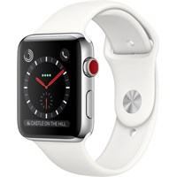 Часы Apple Watch Series 3 Cellular 42mm Stainless Steel Case with Sport Band White/Белый
