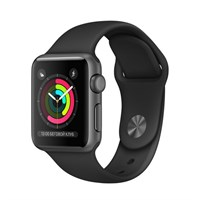 Часы Apple Watch Series 2 38mm Aluminum Case Space Grey with Sport Band Black