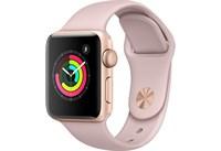 Часы Apple Watch Series 3 38mm Rose Gold Aluminum Case with Sport Band Pink MQKW2 Золотистый/Розовый песок