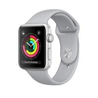 Часы Apple Watch Series 3 38mm Aluminum Case with Sport Band Fog Серебристый/Дымчатый MQKU2