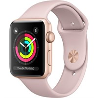Часы Apple Watch Series 3 42mm Rose Gold Aluminum Case with Sport Band Sand Pink Золотистый/Розовый песок