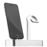 Док-станция COTEetCI Base5 Dock для Apple Watch & iPhone X/ 8 Plus/ 8/ SE/ iPod 2in1 stand CS2095-TS Silver - Серебро