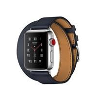 Часы Apple Watch Hermes Series 3 38mm with Double Tour Indigo Swift Leather