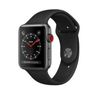 Часы Apple Watch Series 3 Cellular 42mm Aluminum Case with Sport Band Black , Серый Космос/Черный MQK22