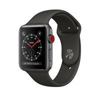 Часы Apple Watch Series 3 Cellular 42mm Aluminum Case with Sport Band Space Grey, Серый космос/Серый космос MR2X2
