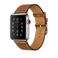 Часы Apple Watch Hermes Series 3 42mm with Single Tour Fauve Barenia Leather