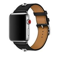 Ремешок для часов Apple Watch, Hermes - 42mm Noir Swift Leather Single Tour Medor Кожа