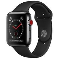 Часы Apple Watch Series 3 Cellular 38mm Stainless Steel Case with Sport Band Черный MQJW2