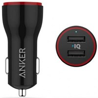 Автомобильное зарядное устройство АЗУ Anker 2.4A суммарно PowerDrive 2 Lite 12W 2-port Car char A2308011