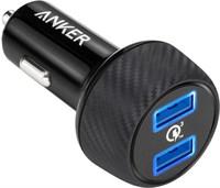 Автомобильное зарядное устройство АЗУ Anker 39W карбон 2 умных USB с QC3.0А и IQ2.4А A2228H11