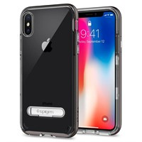 Чехол-накладка Spigen SGP для iPhone X Case Crystal Hybrid, Gunmetal