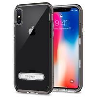 Чехол-накладка Spigen SGP для iPhone X Case Crystal Hybrid, Gunmetal