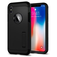 Чехол-накладка Spigen SGP Rugged Tought Armor для iPhone X, Matte Black