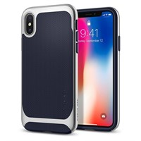 Чехол-накладка Spigen SGP для iPhone X Case Neo Hybrid, Satin Silver