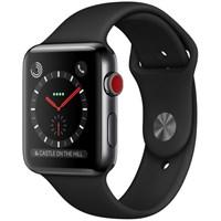 Часы Apple Watch Series 3 Cellular 42mm Stainless Steel Case with Sport Band Black/Черные