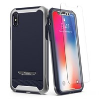 Чехол-накладка Spigen SGP для iPhone X Case Reventon, Platinum Silver