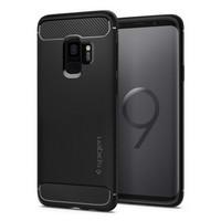 Чехол-накладка Spigen SGP для Samsung Galaxy S9 Case Rugged Armor 592CS22834, Matte Black
